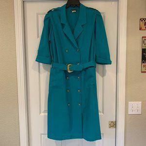 Vintage Breli Originals Union Made Teal Midi Dress